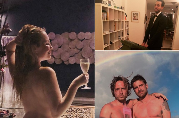 Gluren bij BV's: Lesley-Ann Poppe toont op pikante foto hoe ze tot rust komt, Koen Wauters heeft nieuwe tattoo