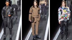 Modellen rollen van de band bij Dior