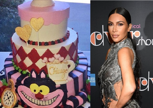 Kim Kardashian tovert haar huis om in 'Alice in Wonderland'-thema