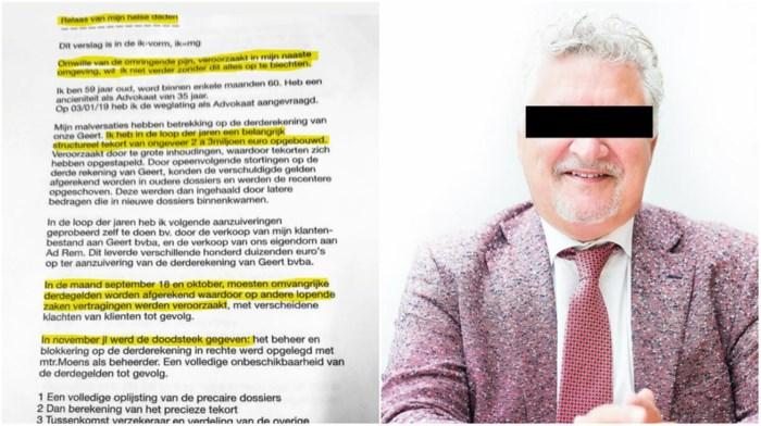 """Advocaat Marc G. (59): """"Ik heb door de jaren een tekort van 2 tot 3 miljoen euro opgebouwd"""""""