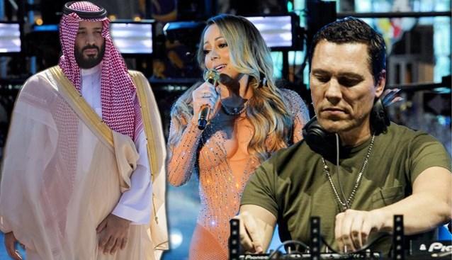 Mariah Carey mag komen zingen, Tiësto mag komen draaien: kroonprins wil van Saudi-Arabië het nieuwe Las Vegas maken