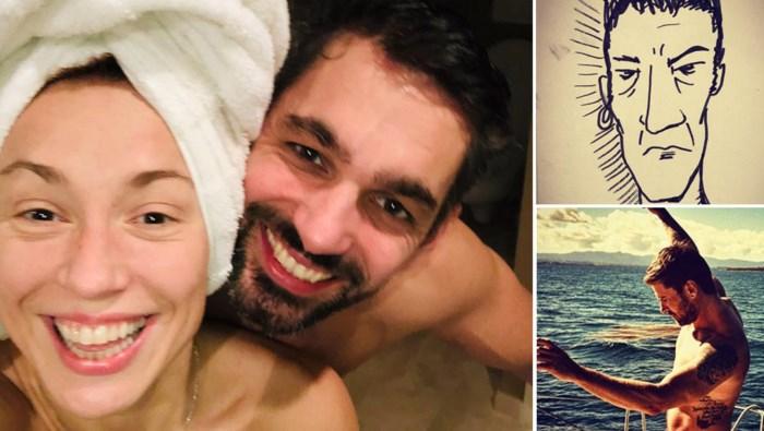Gluren bij BV's: Natalia deelt intieme fotoreeks met vriend, Regi een schattig filmpje met zijn dochter