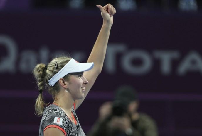 """Elise Mertens voelt geen druk voor finale in Doha: """"Ik heb vertrouwen"""""""