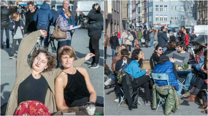 """Overvolle terrassen tijdens lenteweekend: """"Het is vechten voor een tafeltje"""""""