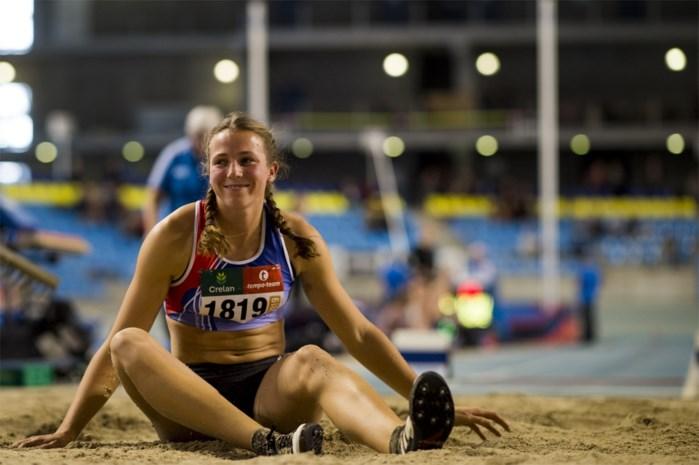 UPDATE Hanne Maudens verbetert Belgisch record verspringen