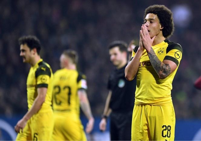 Axel Witsel kan opnieuw niet winnen met Borussia Dortmund, dat voorsprong op achtervolger Bayern ziet slinken