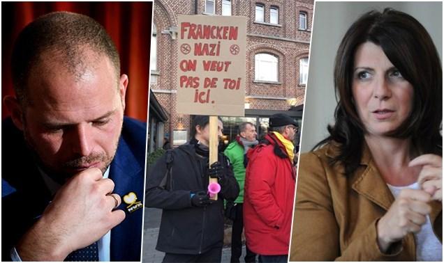 Burgemeester Verviers op matje geroepen nadat ze meedeed met betoging tegen lezing van Theo Francken