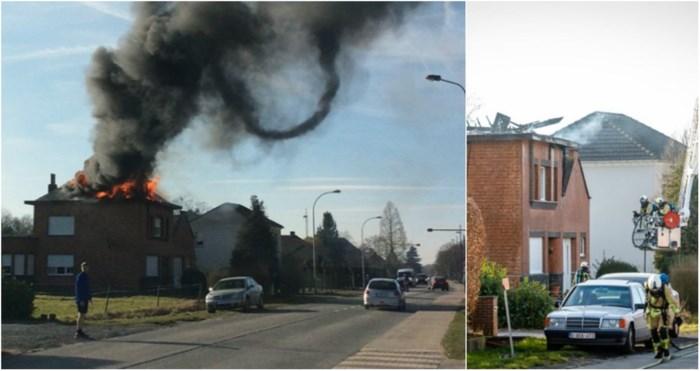 Dakbrand richt grote schade aan, wellicht ook asbest vrijgekomen