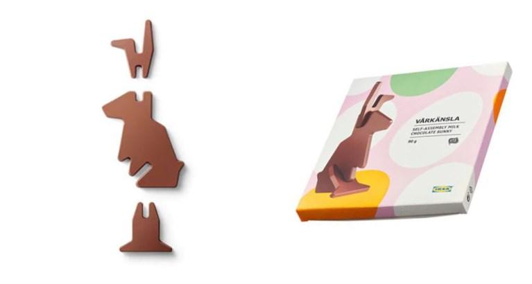 Ikea komt met 'doe-het-zelf' Paashaas uit chocolade