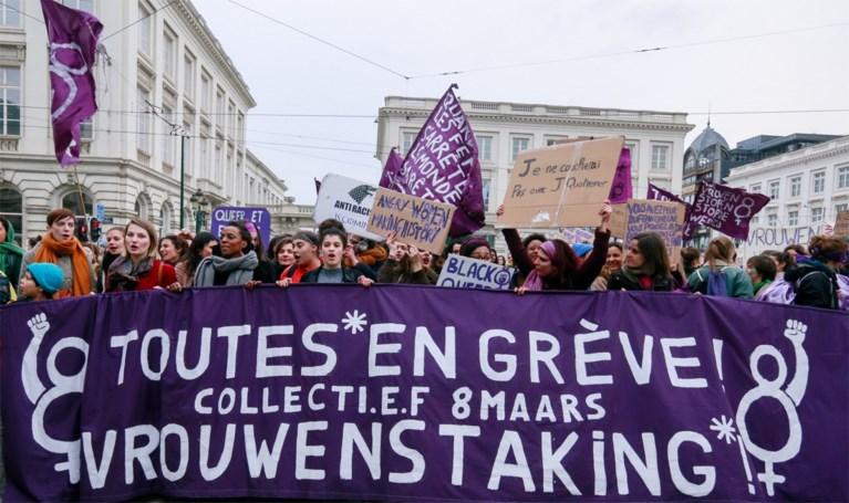 """Meer dan 5.000 deelnemers voor vrouwenmars in Brussel: """"Mijn lichaam, mijn keuze, mijn vrijheid"""""""