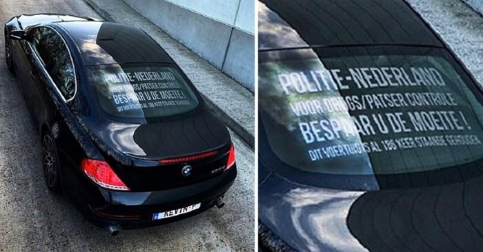 """Boodschap op BMW: """"Bespaar u de moeite, ik ben al 186 keer gecontroleerd"""""""