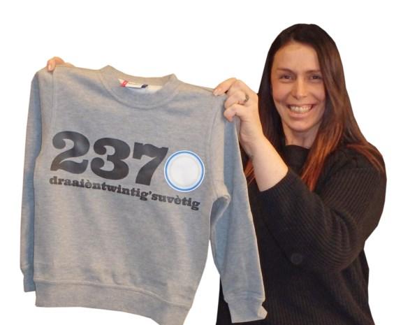 Filemina lanceert 2370-sweater met trendy opschrift van postcode, dialectvertaling en afgelikt porseleinbord