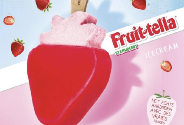 IJsboerke brengt Fruittella-ijsjes uit met aardbeiensmaak