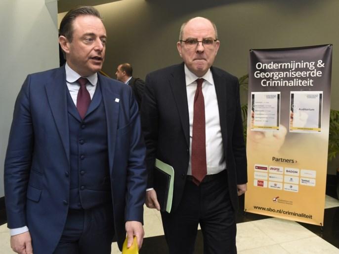 De Wever vraagt meer mogelijkheden om misdaadorganisaties te bestrijden