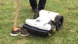 Robotmaaiers niet veilig voor schoenen