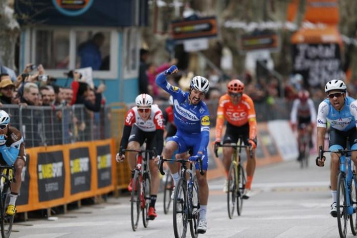 Voorlaatste etappe Tirreno-Adriatico: vreemde spurtzege voor Julian Alaphilippe
