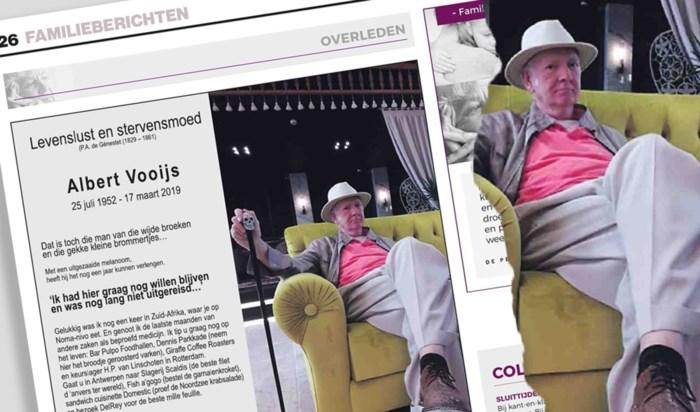 """Nederlander tipt Antwerpse slagerij in eigen overlijdensbericht: """"Uitzonderlijke reclame die we in de zaak gaan hangen"""""""