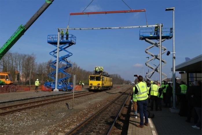 Infrabel start met werken aan elektrische spoorlijn tussen Mol en Hasselt