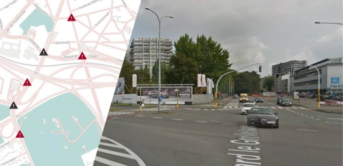 KAART. Zes kruispunten in Antwerpen, waaronder twee zwarte punten, worden binnenkort veiliger