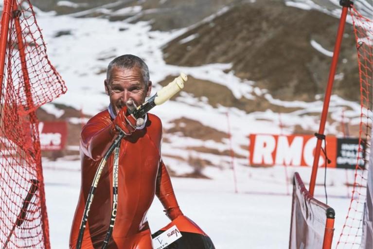 47-jarige West-Vlaming breekt Belgisch record snelskiën: 218,845 km/u!