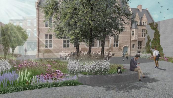Gerestaureerd Hof van Cortenbach krijgt groen binnenplein met hoogstammige bomen