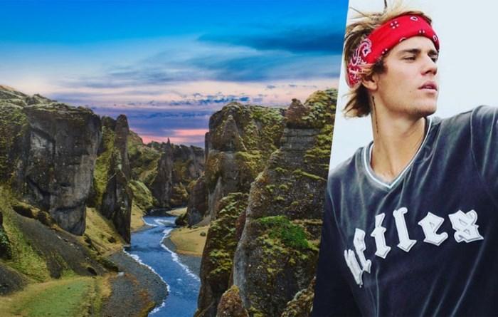 IJslands natuurgebied is verwoest en daar zit Justin Bieber voor iets tussen