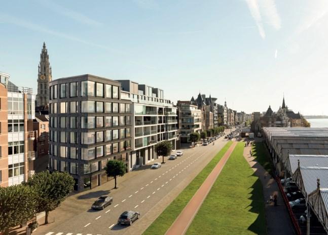 In nieuw luxeappartementsblok op Kaaien kan u met de auto naar de derde verdieping
