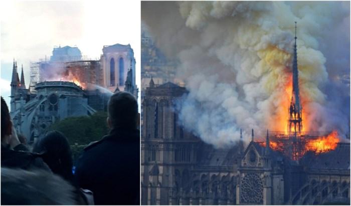 """Onze collega beleeft brand in Notre-Dame vanop de eerste rij: """"Mensen staan te huilen langs de oevers van de Seine"""""""