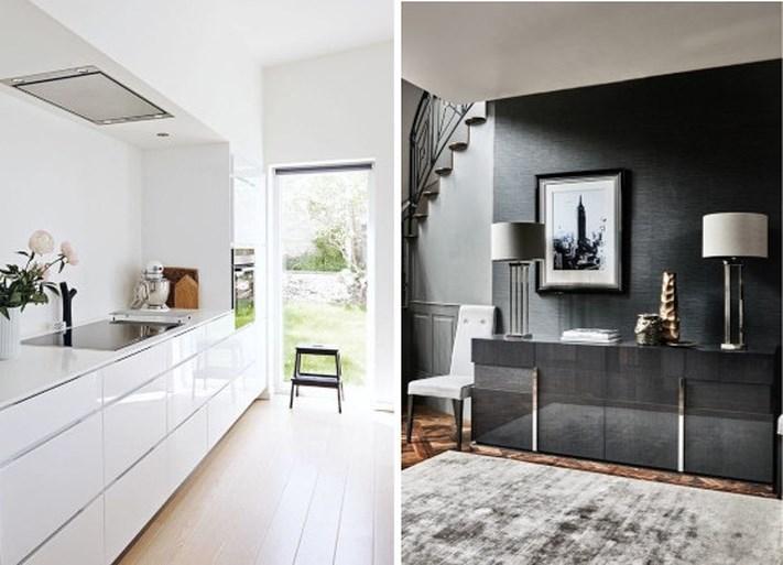 Spiegeltje, spiegeltje … hoogglans verovert het interieur