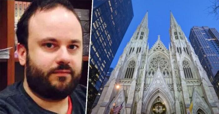 Politie pakt man op in kathedraal van New York met flessen benzine