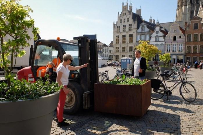 Robuuste bloembakken moeten valpartijen op Grote Markt voorkomen
