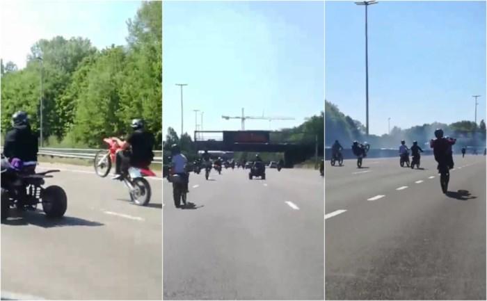 """Enorme groep motorrijders maakt het bont op Antwerpse Ring: """"Wij houden gewoon van adrenaline"""""""