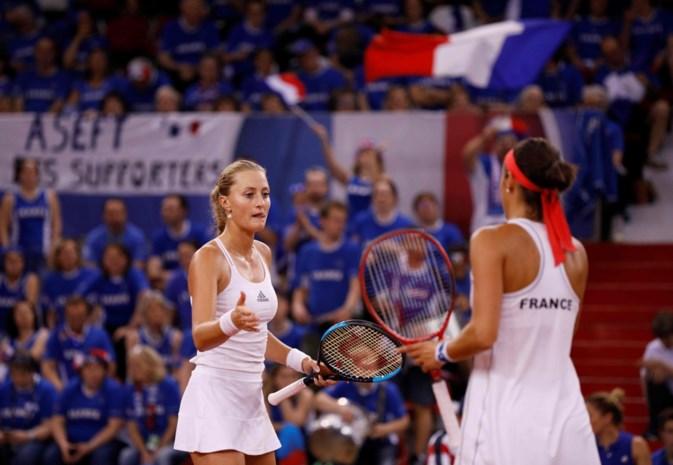 Frankrijk plaatst zich voor Fed Cup-finale tegen Australië