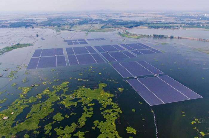 Drijvend zonnepanelenpark krijgt subsidies van bijna 100 euro per MWh