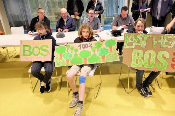 "Protest op gemeenteraad: ""Behoud ons speelbosje"""