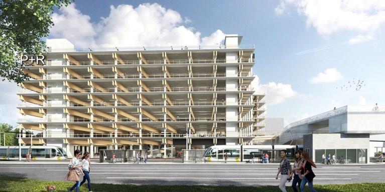Zeven verdiepingen hoog Park and Ride-gebouw verrijst op de Luchtbal