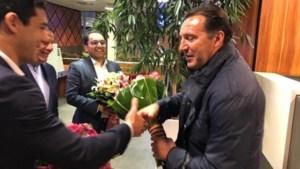 Marc Wilmots aangekomen en hartelijk ontvangen in Iran, waar hij de nieuwe bondscoach wordt