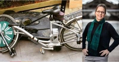 """Groen-raadslid Goedele Van der Spiegel op fiets aangereden in Prins Boudewijnlaan: """"Campagne tijdelijk onderbroken"""""""