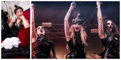 Antwerpse ontwerpt excentrieke kostuums van metalband voor concert in Trix