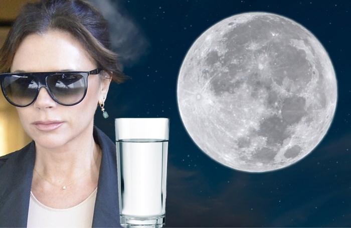 Stralen zoals Victoria Beckham? Drink eens 'vollemaanwater'