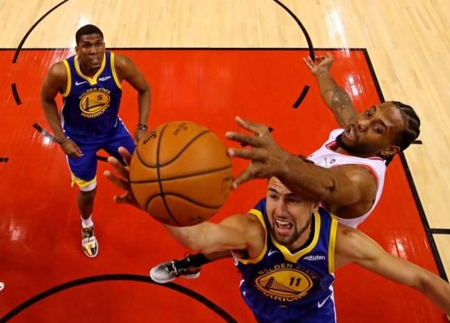Golden State Warriors trekt stand gelijk in finale tegen Toronto Raptors