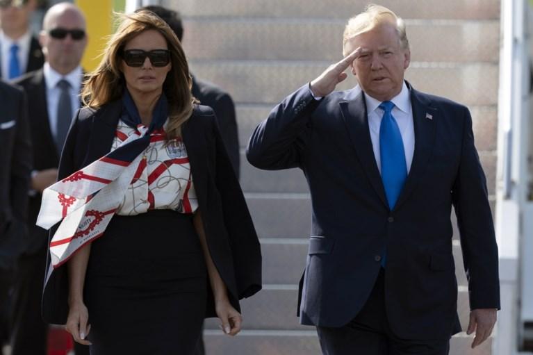 Melania Trump knipoogt met haar outfits tijdens bezoek aan Londen