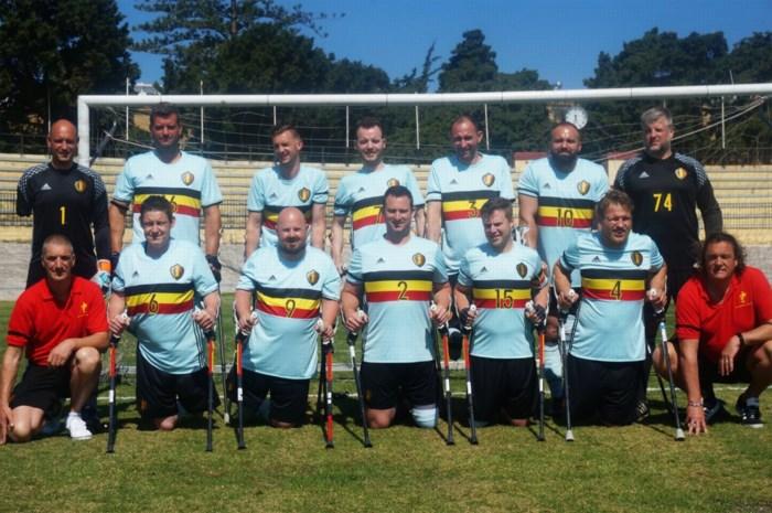 Voetbal op krukken met RAAFC: Antwerp brengt geamputeerd elftal op het veld