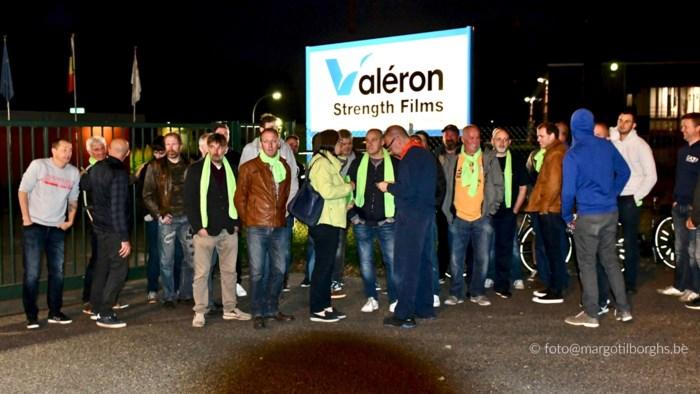 """Opnieuw staking bij Valéron: """"We steven af op een harde exit van 17 mensen"""""""