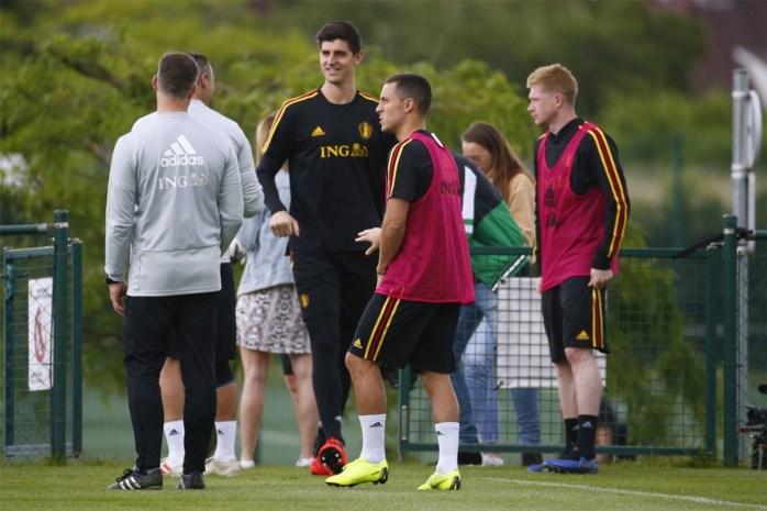 Rode Duivels zijn voltallig op training: Thibaut Courtois is genezen, Eden Hazard laat transferdrukte van zich afglijden