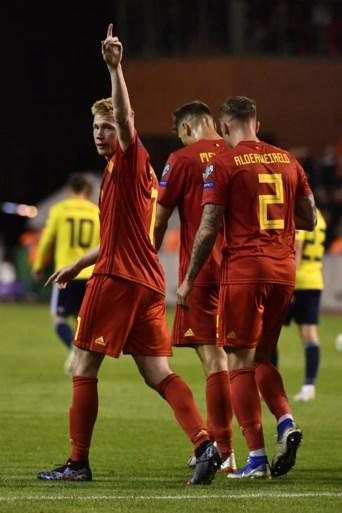 Rode Duivels kloppen Schotland dankzij Lukaku (2x) en De Bruyne