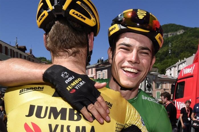 """Wout van Aert wint na tijdrit nu plots ook sprint: """"Ja, dit is wel een luxeprobleem"""""""