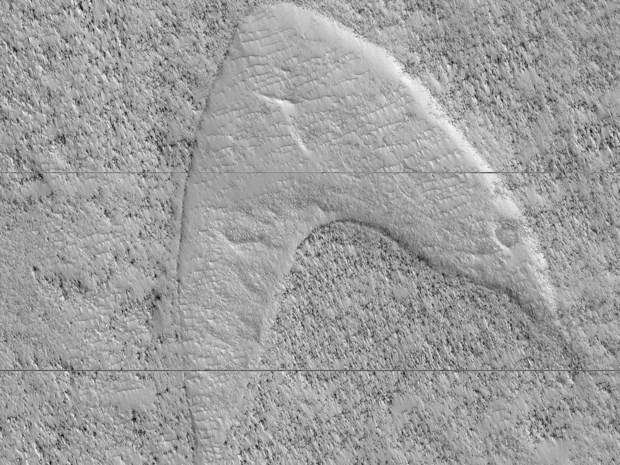 """De NASA heeft het """"Star Trek""""-logo op Mars aangetroffen"""