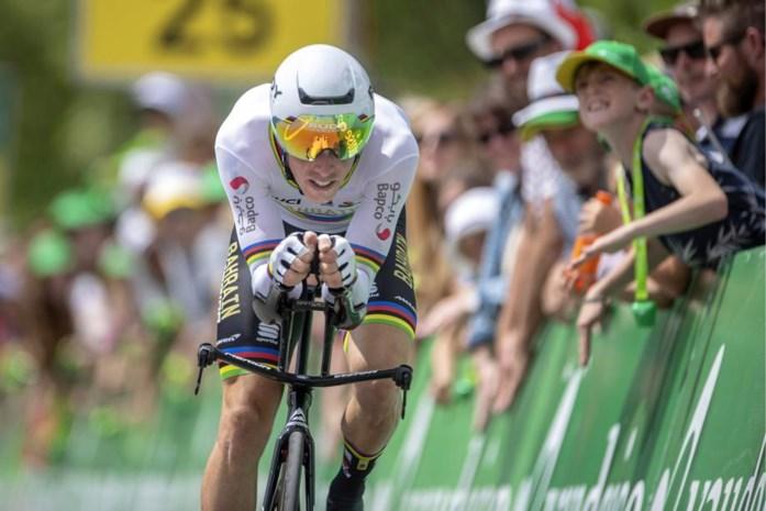 Proloog Ronde van Zwitserland kolfje naar de hand van wereldkampioen Rohan Dennis