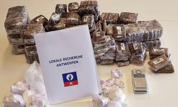 Twintig kilo hasj in beslag genomen bij Antwerpse drugsbende